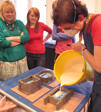 Marion Smith Workshops - Casting using clay, alginate and plaster