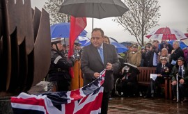 Marion Smith - Lancastria Memorial - First Minister unveiling
