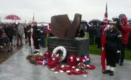 Marion Smith - Lancastria Memorial - on day of unveiling